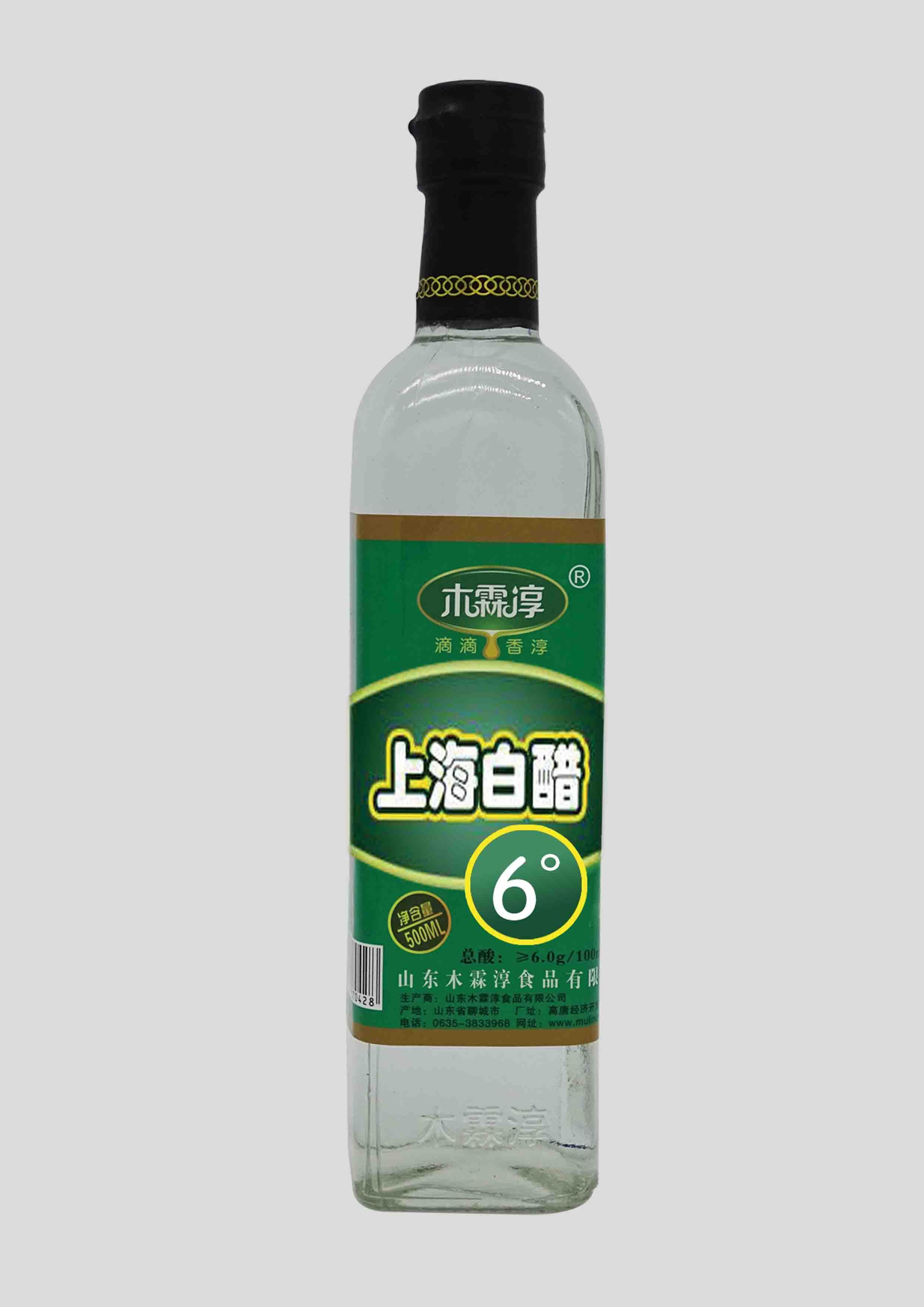 上海风味6°白醋500ML