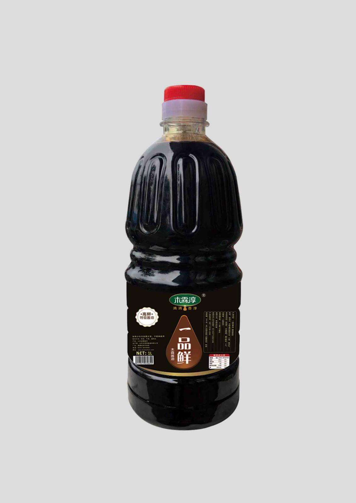 木霖淳一品鲜酱油1L