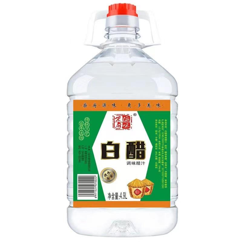 柴府原味白醋调味醋汁4.9L